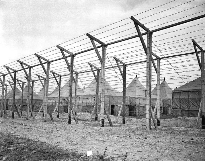 War Relocation Camp enclosure WW2