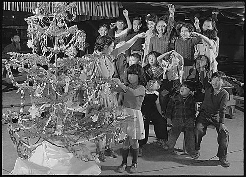 Celebrating Christmas at Japanese  Internment camp WW2