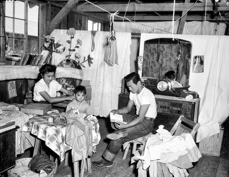 Family Unit at Amache Japanese Internment Camp Colorado