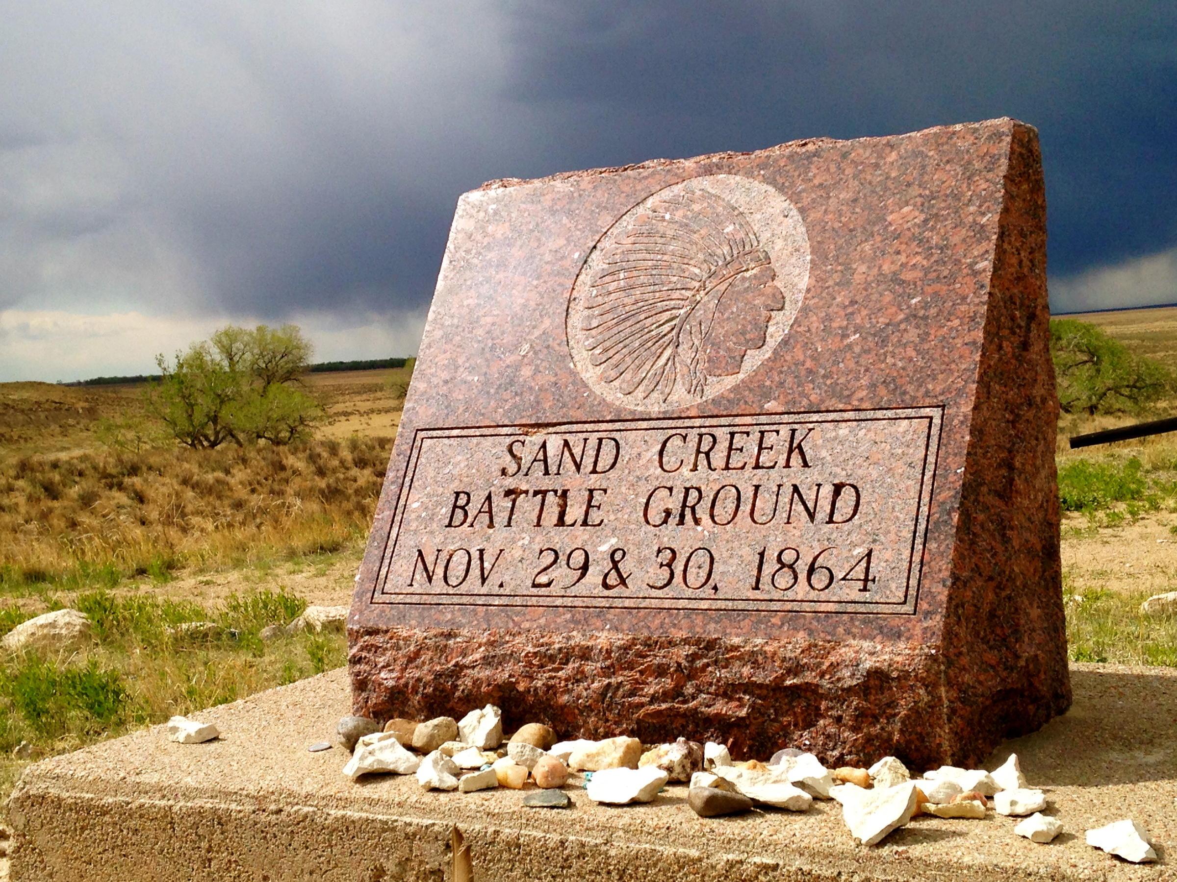 Sand Creek Battleground Marker