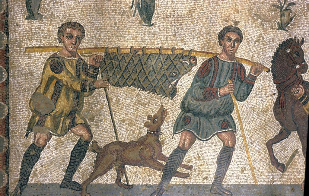 Mosaic at Villa Casale in Sicily Italy