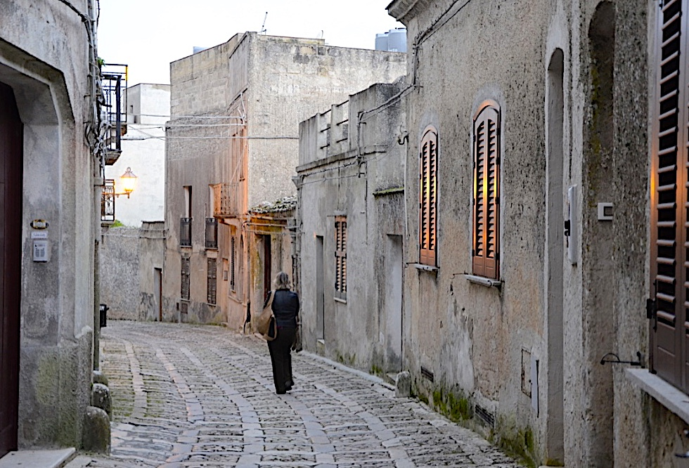Living and Learning through Travel winding street in Erice Italy