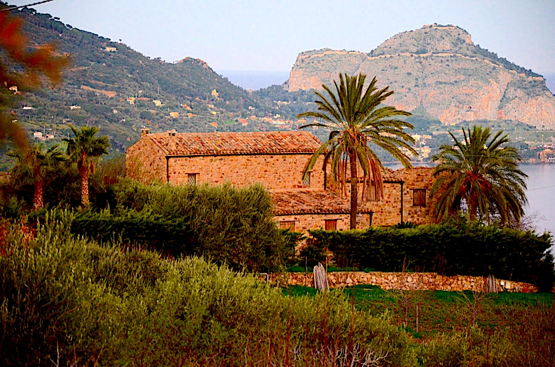 Chefalu Eastern side in the evening light Sicily Italy photo by Danette Ulrich