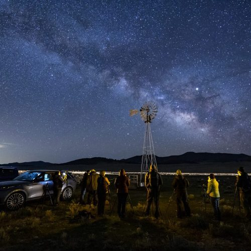 People viewing the Milky Way in Custer County Colorado a dark skies community