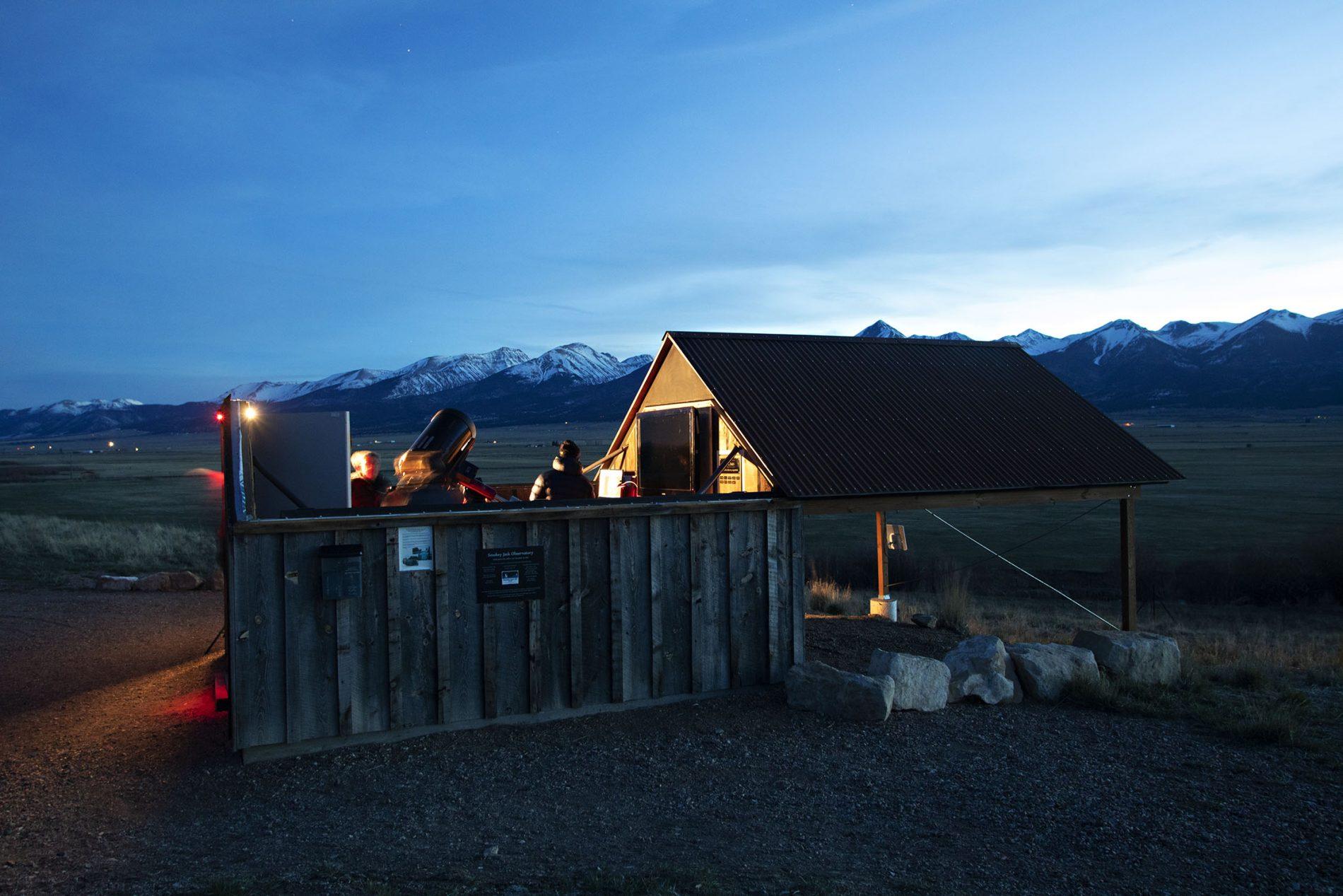 The Smokey Jack observatory and telescope at Westcliffe Colorado a Colorado Dark Skies community