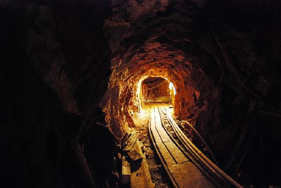 Mine shaft of the Hopemore mine tour Leadville, Colorado