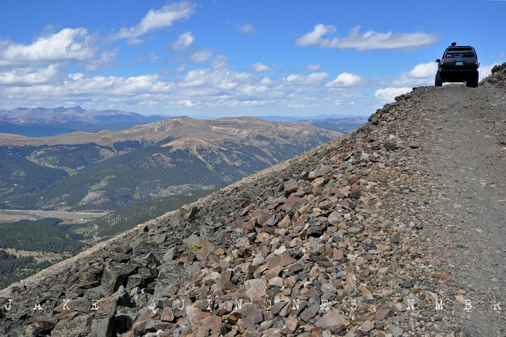 harrowing mosquito pass in Lake County Colorado near Leadville