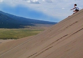 ski or sled at Great Sand Dunes National Park a Colorado Dark Skies site