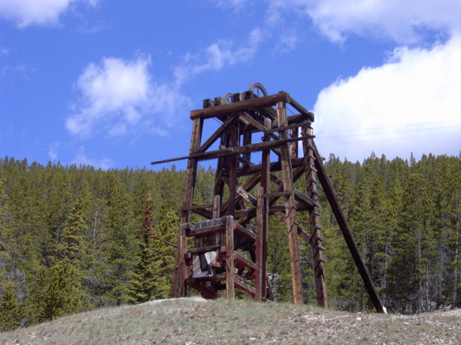 abandoned mine shaft near Leadville, Colorado