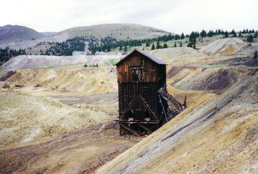 abandoned mine near Leadville, Colorado
