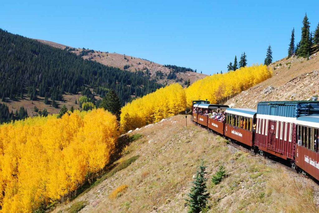 Fall Train in Leadville Colorado