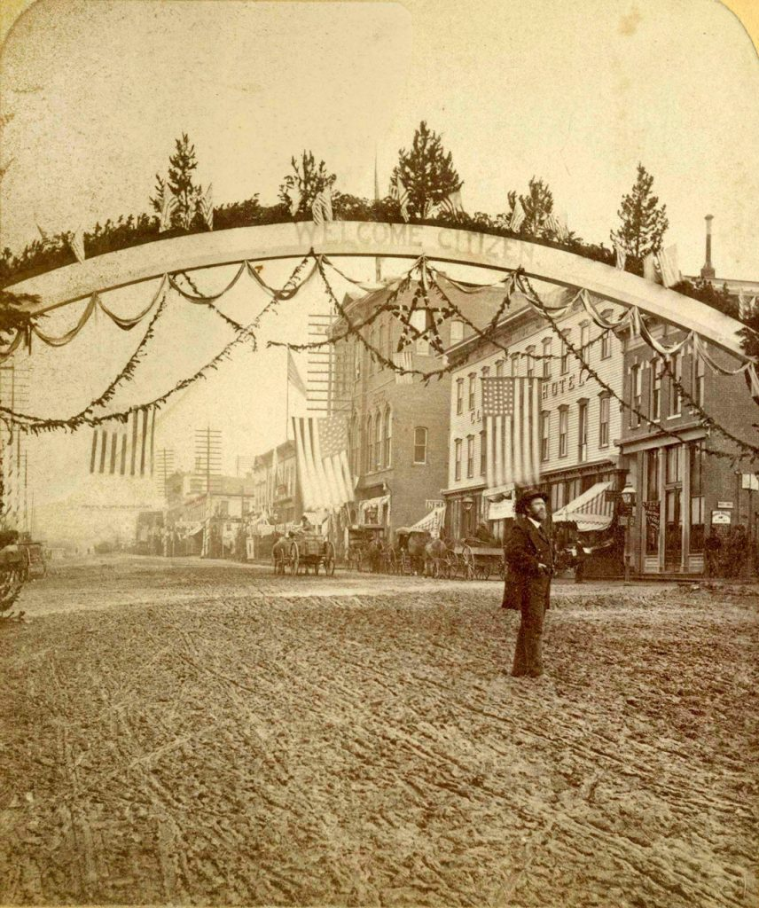President Grant visiting Leadville Colorado