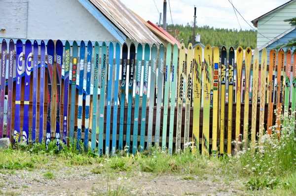 ski fence in Leadville Colorado