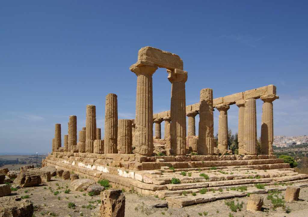 Agrigento Sicily Italy Temple of June Valley of the Temples