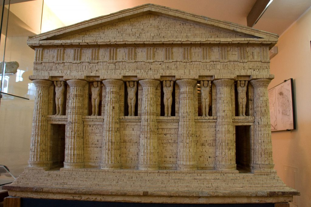 Agrigento Sicily Valley of the temples model in the Museum