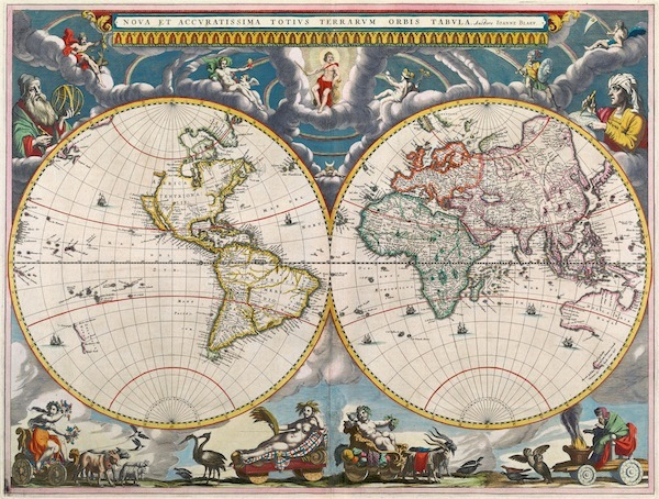 Old Map or Atlas of the World