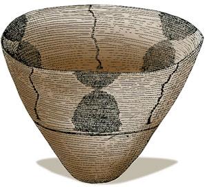 Canyons of the Ancients Black and White Anasazi Bowl