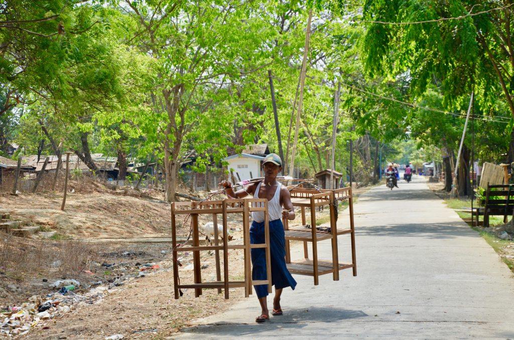 People of Myanmar living on Dala Island near Yangon