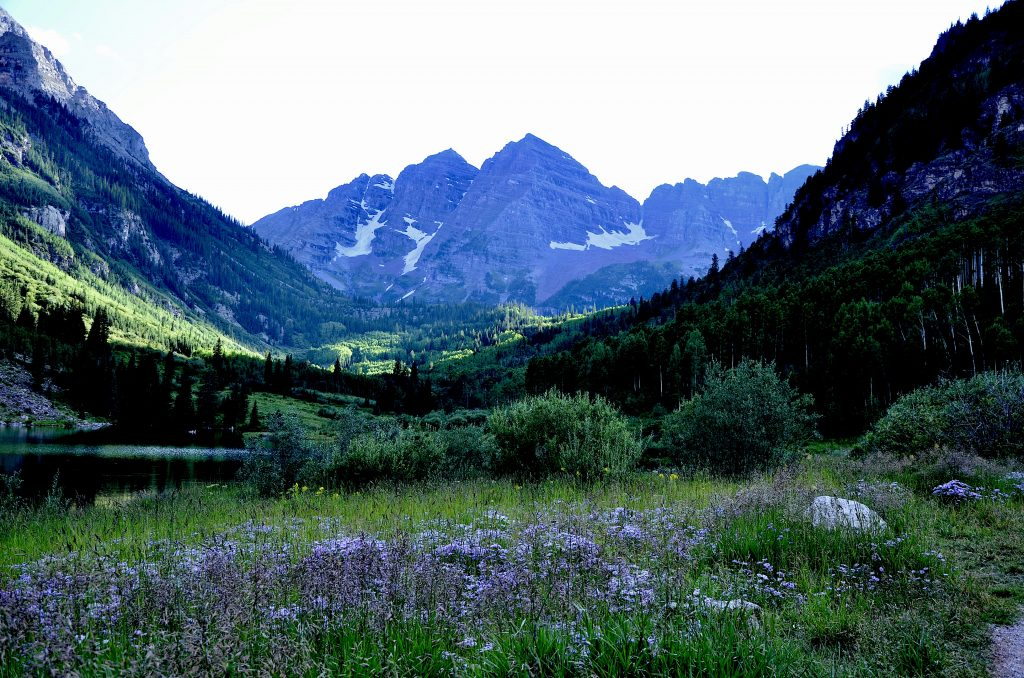 Maroon Bells on Colorado wildflower hikes Photo by Danette Ulrich