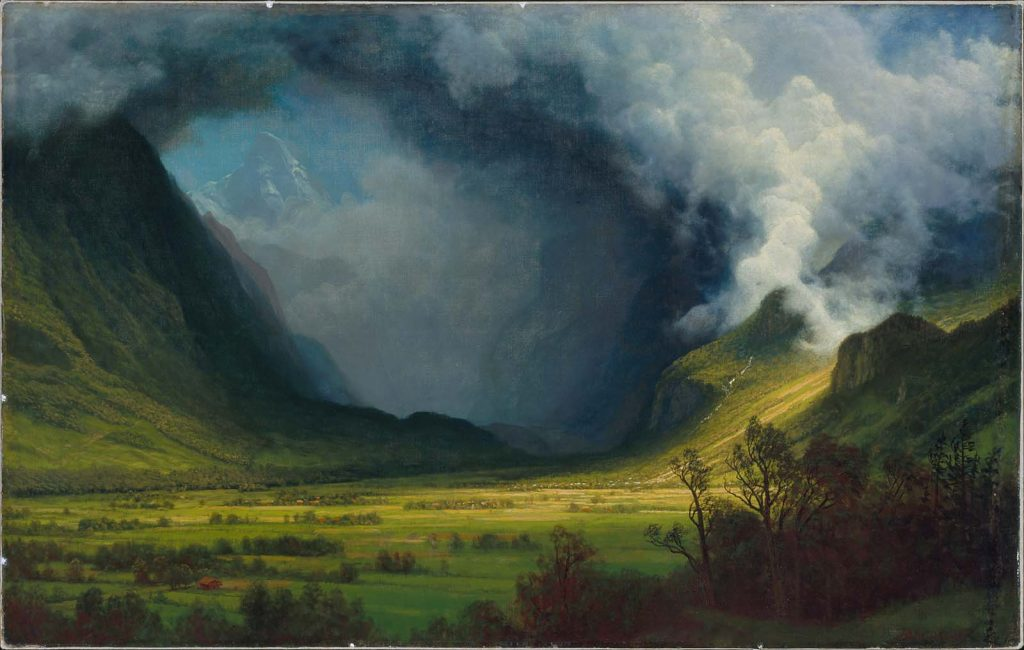 Storm in the Mountains by Albert Bierstadt Museum of Fine Art Boston