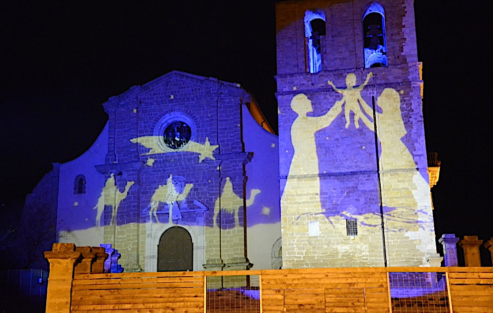 Church being restored in Agrigento Christmas scene on the front photo by Danette Ulrich