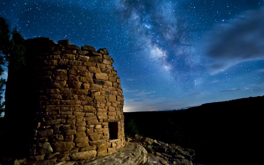 Star filled sky over Canyons of the Ancients Colorado
