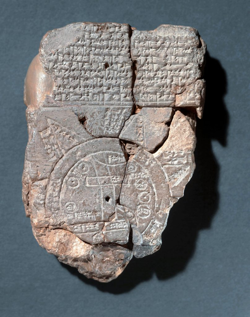 ancient map in Babylon shows the importance of finding our place and our way in society