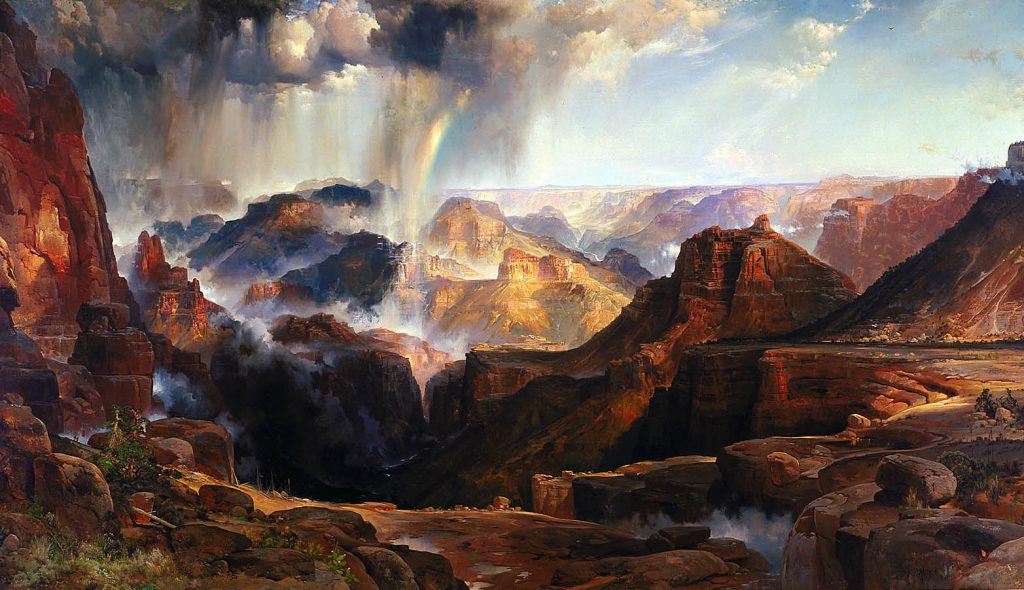 Thomas Moran Painting Chasm of the Colorado in the Smithsonian Department of the Interior