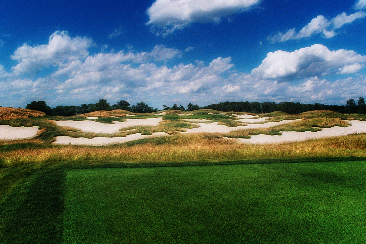 The 17th Hole known as Hell's Half Acre at Purgatory Golf Club Indiana