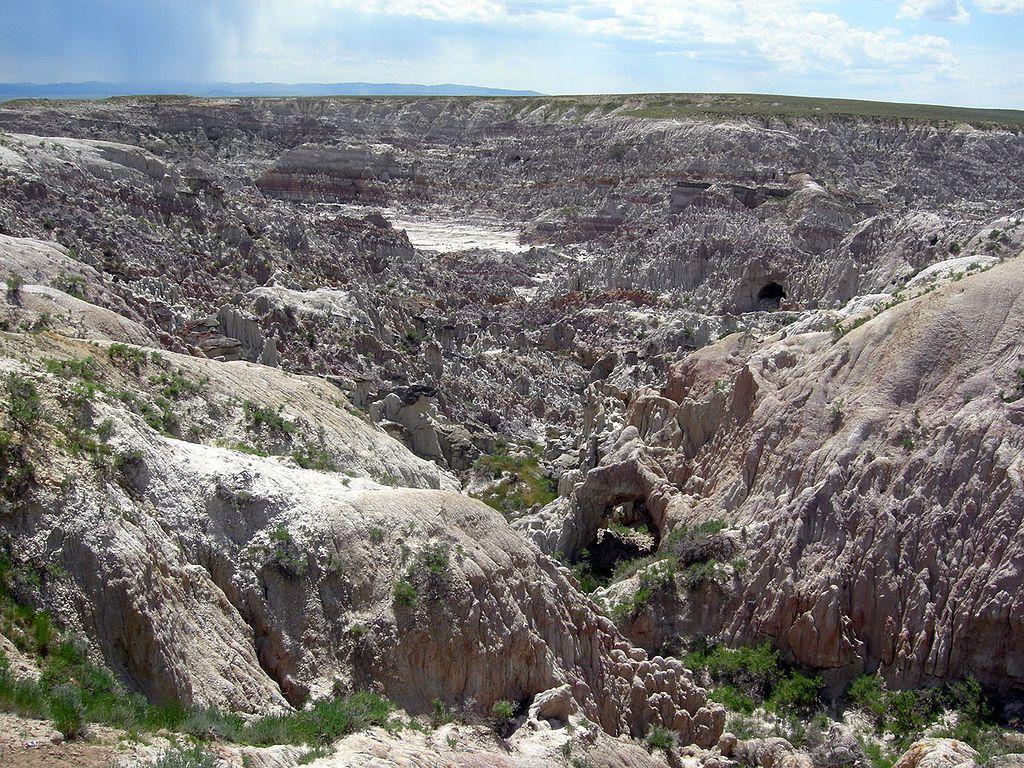 Hell's Half Acre near Casper Wyoming