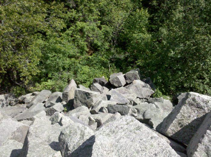 Rock Quarry near Hell's Half Acre in Arkansas