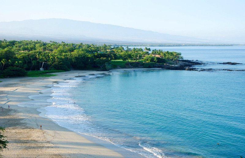 Kauna'oa beach on the Kohala Coast is one of the premier beaches on the Big Island of Hawaii