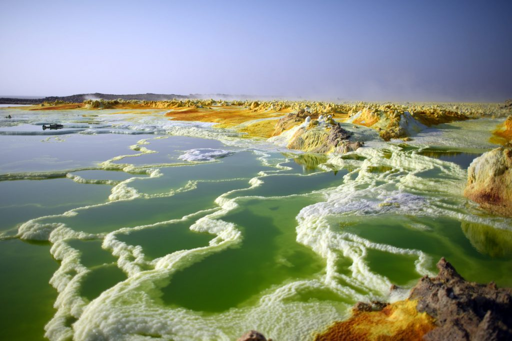 Danakil Depression in Ethiopia Africa a colorful place in nature