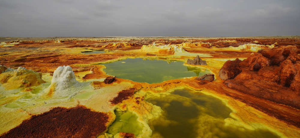 The Danakil Depression Ethiopia Africa a colorful place in nature